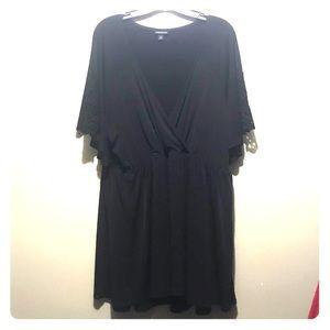 torrid Black Babydoll w/ Lace Sleeve sz 3